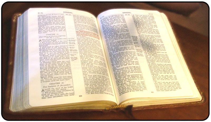 Open Bible with Cross